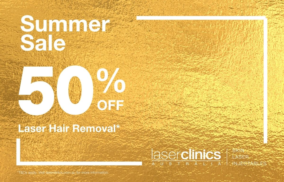 50% OFF Laser Hair Removal at Laser Clinics Australia
