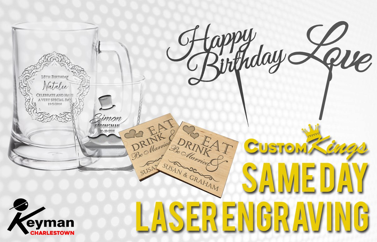 Same day laser engraving
