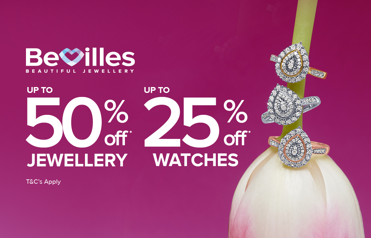 Up to 50% off Diamonds & Up to 50% off Watches.