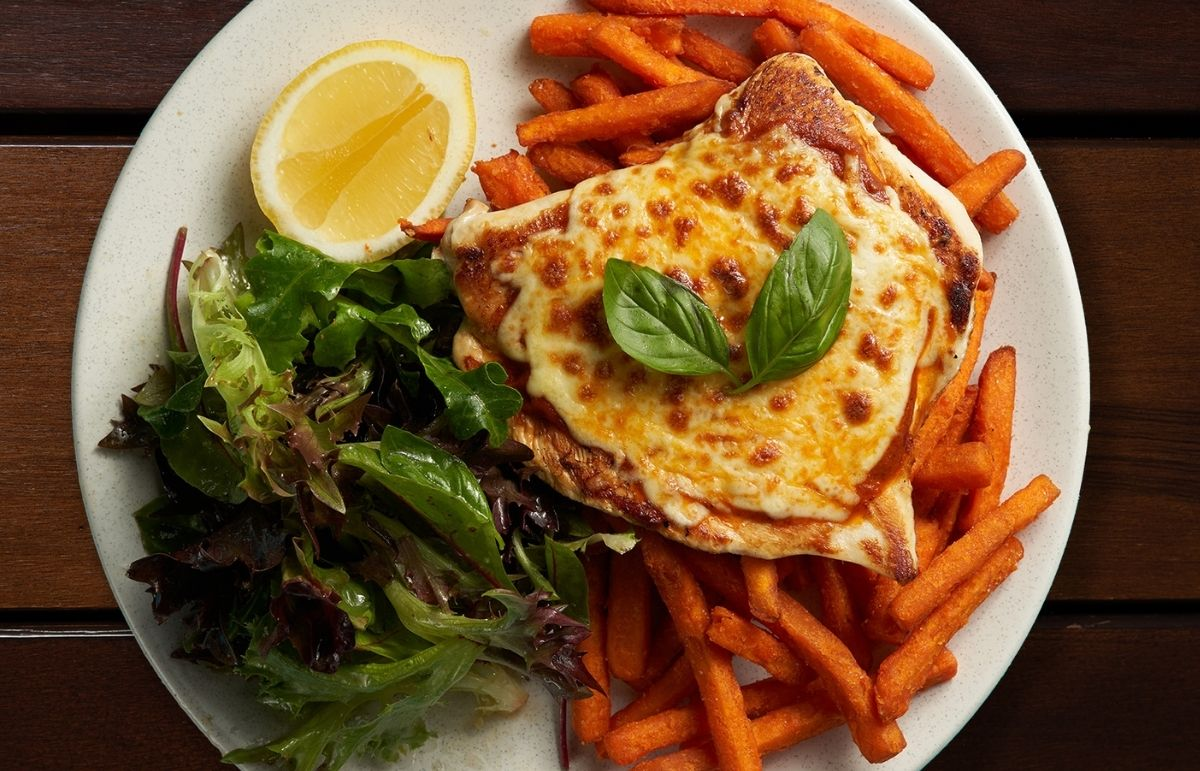 Introducing the Naked Chicken Parma!