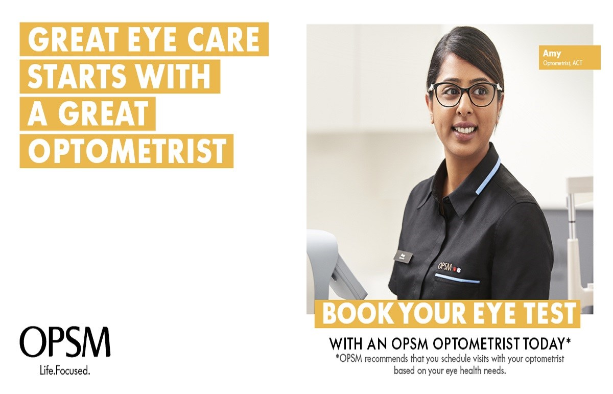 OPSM $100 off a complete pair of prescription glasses and prescription sunglasses